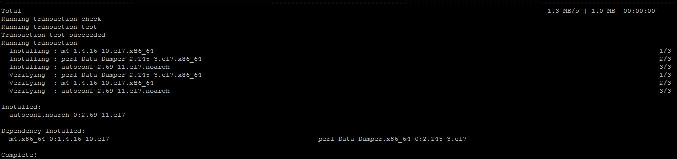 在VULTR VPS的centos 7.3 64位上解决phpize报错autoconf没有安装的问题 Cannot find autoconf
