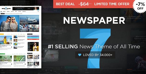 Newspaper v7.6 新闻杂志WordPress英文主题 免费下载