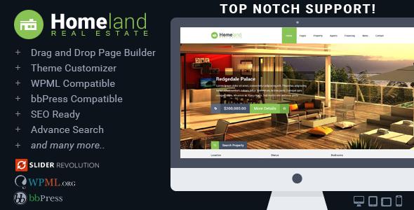 WordPress房地产主题 Homeland v3.1.6 免费下载