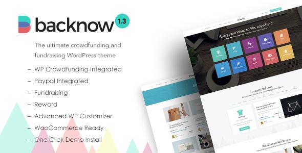 WordPress众筹和募捐主题 Backnow v1.3 免费下载