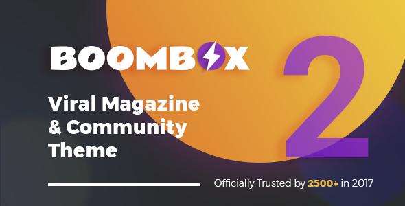 WordPressCMS杂志主题 BoomBox v2.5.3 免费下载