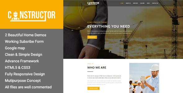 WordPress专业建筑主题 Constructor v1.1 免费下载