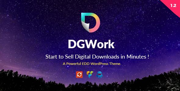 WordPress数字虚拟产品下载主题  DGWork v1.3 免费下载