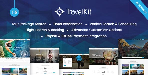 WordPress旅游路线主题主题 Travelkit v1.5 免费下载