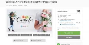 Camelia Floral Studio Florist WordPress Theme
