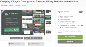 Camping Village - Campground Caravan Hiking Tent Accommodation