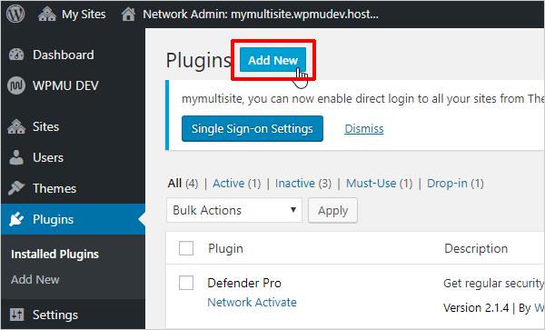 Click Add New to add a new plugin