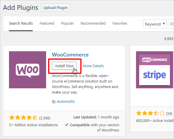 Install your eCommerce plugin