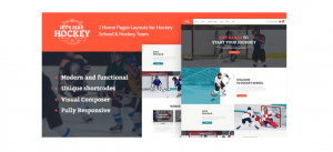 Let s Play Hockey School-Winter Sports WordPress Theme