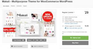 Makali Multipurpose Theme for WooCommerce WordPress