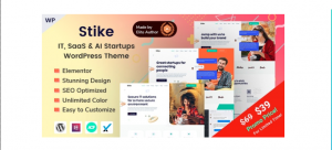 Stike IT Startups WordPress Theme