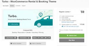 Turbo WooCommerce Rental Booking Theme