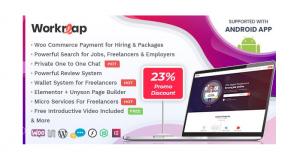 WordPress 自由职业市场主题 Workreap v1.4.1 免费下载