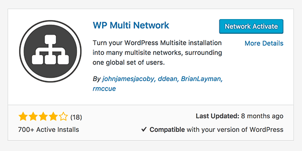 WP Multi Network Activate