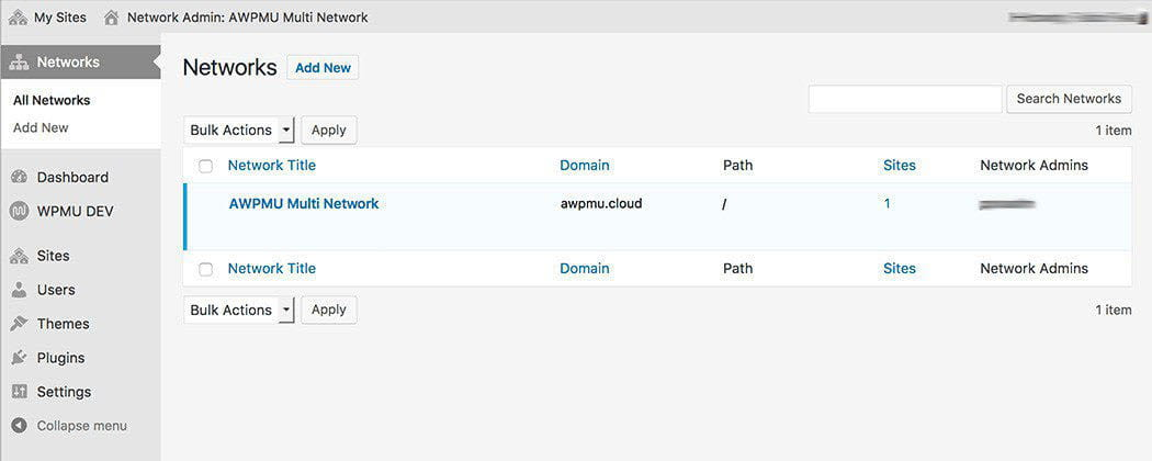 multisite multi network setup